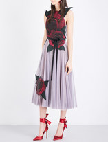 Christopher Kane Beauty and the Beast tulle and silk-satin dress