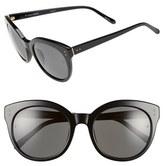 Linda Farrow 56mm Cat Eye Sunglasses