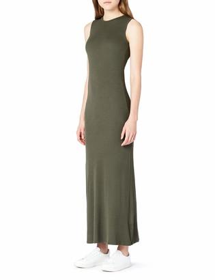 Meraki Amazon Brand Women's Slim Fit Rib Summer Maxi Dress