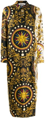 Fausto Puglisi Long Printed Shirt Dress