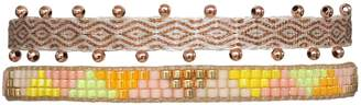 BEIGE Leju London Set Of Two Bracelets In And Bright Colors