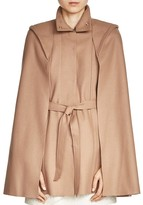 Maje Glasgow Belted Cape Coat