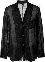 Avant Toi frayed edge fine knit blazer