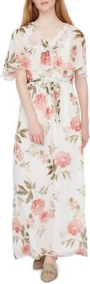 Vero Moda Lucca Floral Print Chiffon Maxi Dress