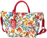 Dolce & Gabbana Floral Print Cotton Canvas Tote Bag