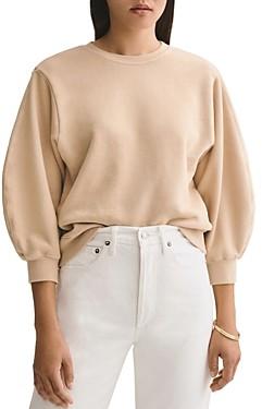 AGOLDE Thora Balloon-Sleeve Sweatshirt