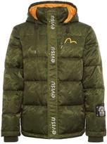 Evisu Camouflage Printed Hooded Down Jacket