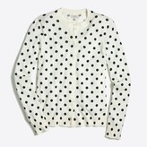 J.Crew Factory Large Ivory Navy Dot