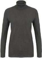 Tribal Grey Turtleneck Sweater
