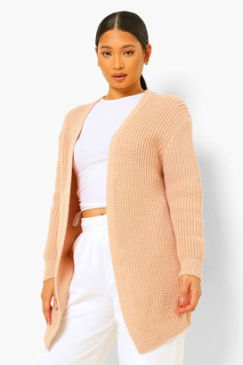 boohoo Petite Lace Up Back Cardigan