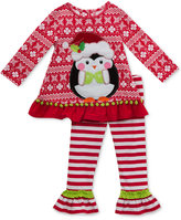 Rare Editions 2-Pc. Penguin Top & Leggings Set, Toddler Girls (2T-4T) & Little Girls (2-6X)
