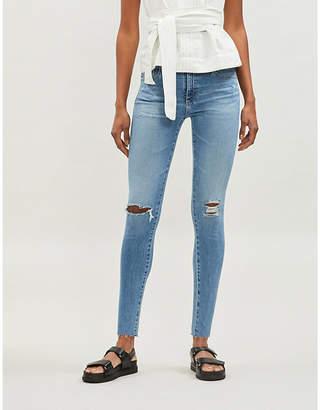 AG Jeans Ladies Blue Farrah Slim Fit High Rise Jeans