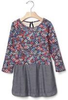 Gap Mix-fabric dress