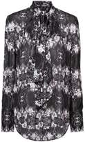 Thomas Wylde sheer printed blouse