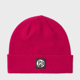 Paul Smith Women's Fuchsia Lambswool Beanie Hat
