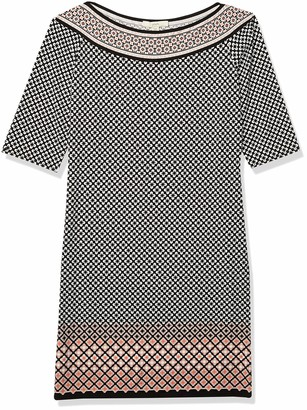 Lark & Ro Women's Half Sleeve Shift Dress