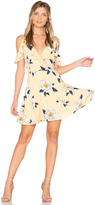 J.o.a. Flower Print Cold Shoulder Flare Dress