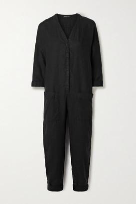 James Perse Linen Jumpsuit - Black