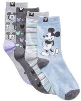 Disney Women's 4-Pk. Assorted Mickey Mouse Crew Socks