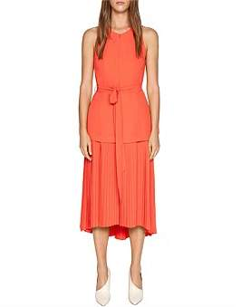 Cue Crepe Pleated Hem Dress