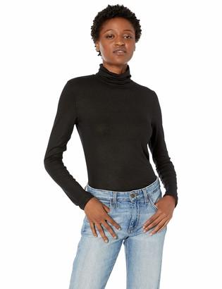 Majestic Filatures Women's Viscose/Elastane Metallic Long Sleeve Turtleneck