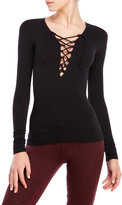 Free People Lace-Up Front Layering Top