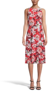 Kasper Floral-Print Sleeveless Dress