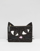 Lulu Guinness Glitter Kookie Cat Purse