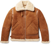 Acne Studios Ian Leather-trimmed Shearling Jacket - Tan
