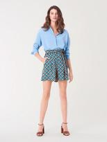 Diane von Furstenberg Pasha Silk Crepe de Chine Tailored Shorts