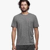 James Perse Melange Cotton Linen Pocket Tee