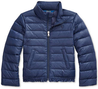Polo Ralph Lauren Toddler Girls Ruffled Quilted Down Jacket