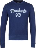Hackett Navy Gb Logo Crew Neck Sweatshirt