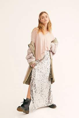 Free People Sea Shell Sequin Maxi Skirt
