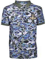 Les Hommes Camouflage Polo Shirt