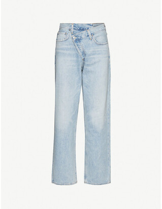 A Gold E AGOLDE Criss Cross straight mid-rise jeans