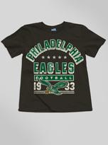Junk Food Clothing Kids Boys Nfl Philadelphia Eagles Tee-black Wash-xs