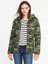 Old Navy Quilted Camo Hooded Jacket for Women