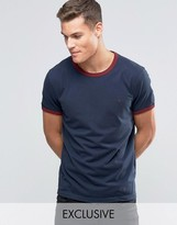 Jack Wills Ringer T-Shirt In Regular Fit In Navy Exclusive