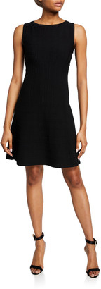 Alaia Gridded Cutout-Back Mini Dress