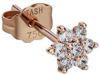 Maria Tash 4.5mm 18kt Rose Gold Diamond Flower Stud Earring