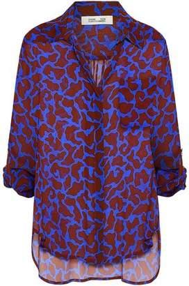 Diane von Furstenberg Printed Silk-chiffon Shirt