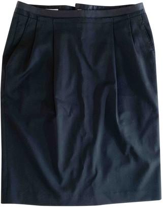 CNC Costume National Black Wool Skirt for Women Vintage