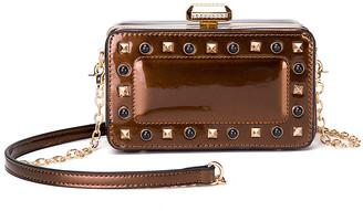 Style Strategy Women's Handbags Bronze - Bronze Tess Patent Crossbody Bag
