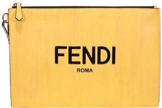 Fendi Roma Lettering Flat Pouch