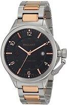 Trafalgar Ballast Men's BL-3125-02 Dress Analog Display Swiss Quartz Two Tone Silver/Rose Gold Stainless Steel Watch