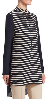 Akris Punto Striped High-Low Tunic