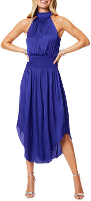 Ramy Brook Bella Sleeveless Halter Midi Dress