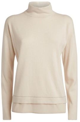 Peserico High-Neck Contrast-Trim Sweater