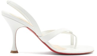 Christian Louboutin Taralita 85 Leather Slingback Sandals - White